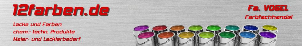 12Farben.de - Farben, Lacke und mehr-Logo